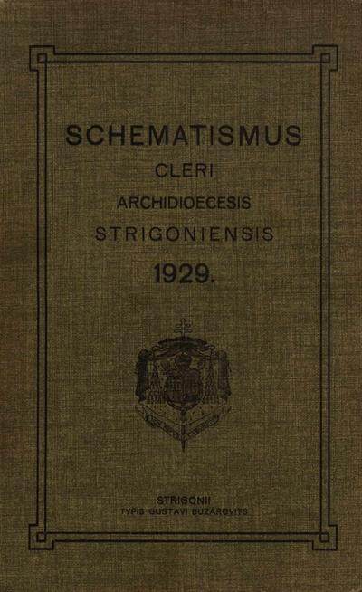 Schematismus venerabilis cleri archidioecesis Strigoniensis