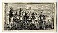 Nyomtatott képecske egy társasági ülésről