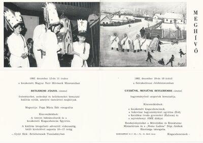 Meghívó a kecskeméti Magyar Naiv Művészek Múzeumában és a Szórakaténusz Játékmúzeumban tartott programokra