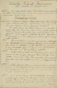 Kivonat a pesti tanácsülési jegyzőkönyvből a Rókus kórház rendtartásából, 1841