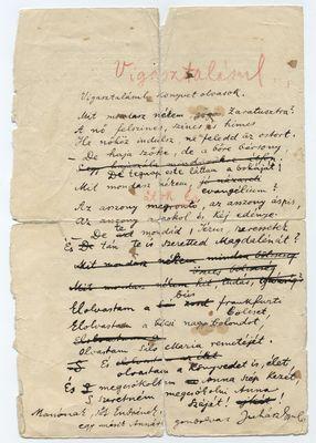 Juhász Gyula kéziratok, versek, prózai művek