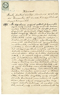 Budai tanácsi jegyzőkönyv kivonata a Császár-malom telkén építendő fürdő tárgyában, 1846