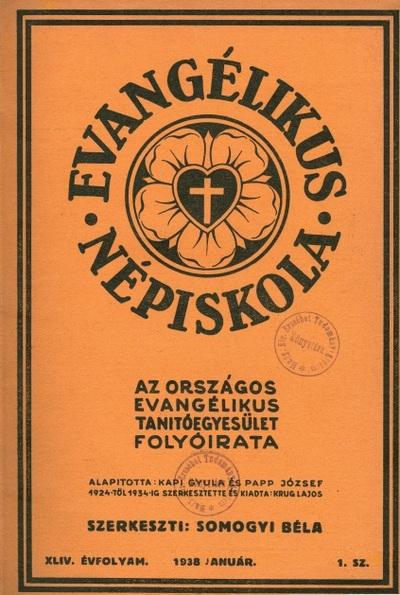 Evangélikus Népiskola 1938