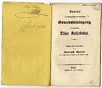 A Császár-fürdő alapkőletételére mondott beszéd, Spécz József dr., 1842