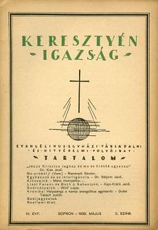 Keresztyén Igazság 1936 (május)