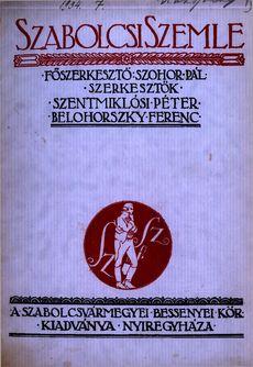 Szabolcsi Szemle 1934 7