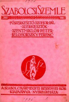 Szabolcsi Szemle 1935 1