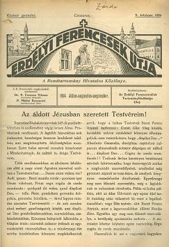 Erdélyi Ferencesek Útja 1934. Július-augusztus-szeptember