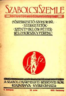 Szabolcsi Szemle 1935 10