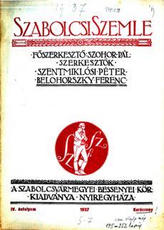 Szabolcsi Szemle 1937 5 7