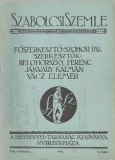 Szabolcsi Szemle 1941 4