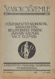 Szabolcsi Szemle 1942 1 2