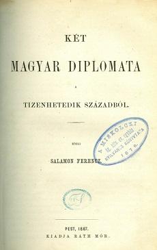Két magyar diplomata a tizenhetedik századból