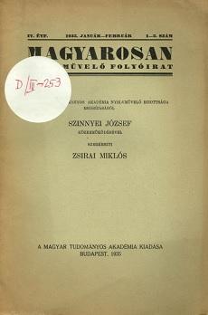 Magyarosan Nyelvművelő Folyóirat