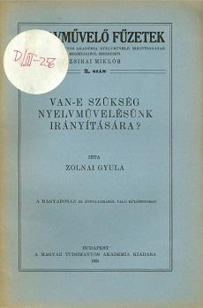 Nyelvművelő füzetek