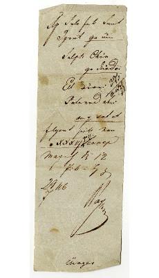 Orvosi recept, Szent Teréz gyógyszertár, Pest, 1846