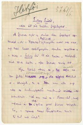 Szigethy Vilmos - Kézirat