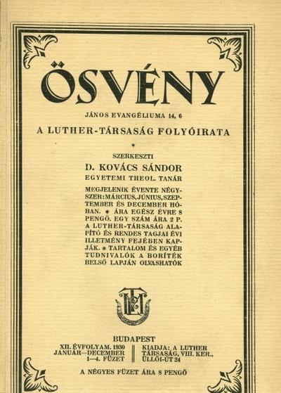Ösvény 1930