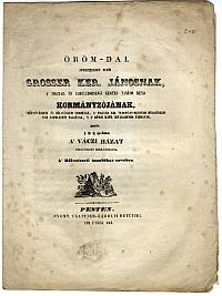 Örömdal Grosser János látogatása alkalmából a váci rendházban, Szőllősy István, 1846