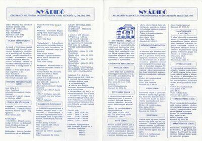 Nyáridő 1995 - szünidei táborajánlatok