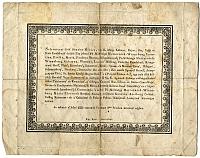 Esküvői értesítés: gr. Sándor Móric és hg. Metternich-Winneburg Leontina, 1833