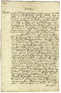 Végrendelet másolata, 1811