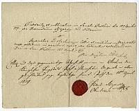 Főjegyzői hitelesítés, 1819