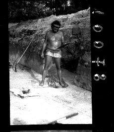 Negatív, ásatás, Bakonytamási