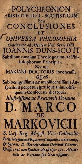 Polychronicon Aristotelico-Scotisticum seu conclusiones ex universa philosophia