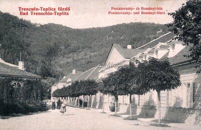 Trencsénteplic-Fürdő - Bad Trenschin-Teplitz. Poniatovszky- és Bossányi-ház - Poniatovszky- und Bossányi-Haus.