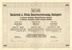 A Bachruch A. Utóda Rt. összevont részvénye 40000 pengő értékben