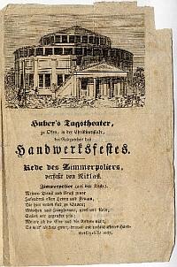 Üdvözlő beszéd és tószt a Budai Nyári Színkör felavatására, é.n. [1843?]