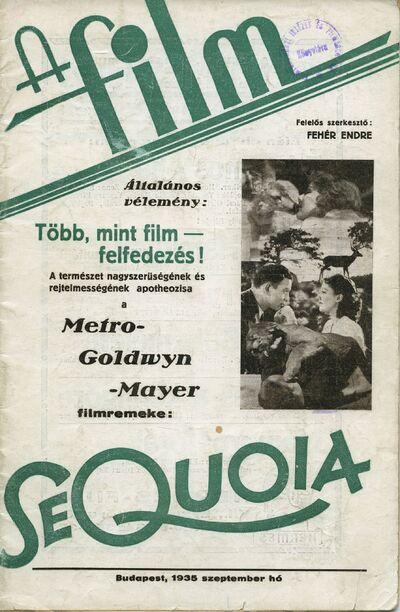 A film 1935 II. évfolyam 9. szám