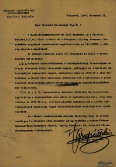 Körlevél zsidó személy választói bizottsági tagságáról