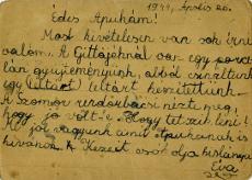 Levelezőlap a munkaszolgálatos édesapának