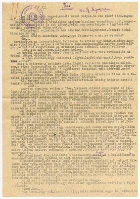 Sz. Szigethy Vilmos - Kézirat
