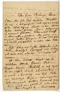 Balogh István színész-színigazgató levele vejéhez (Bakonyi), 1868