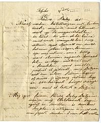 Lenkei Gyula levele Balogh Istvánhoz, Trencsén, 1866