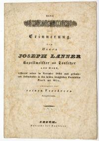 Köszöntővers Joseph Lanner bécsi zeneszerző pest-budai látogatása alkalmából, 1834
