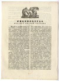 Felhívás a Kölcsey-emlékmű ügyében, 1840