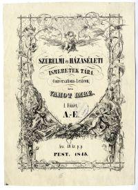 Vahot Imre: Szerelmi és házaséleti ismeretek tára, címlap, 1845