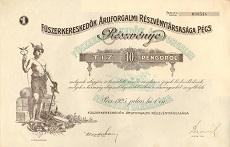 A Fűszerkereskedők Áruforgalmi Rt. részvénye 10 pengőről