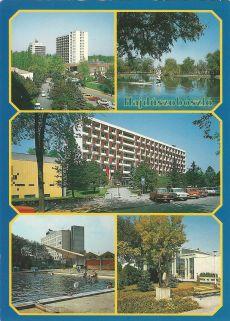 Hajdúszoboszló - képeslap, gyógyfürdő, 1991.