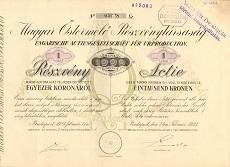 A Magyar Őstermelő Rt. részvénye 1000 koronáról