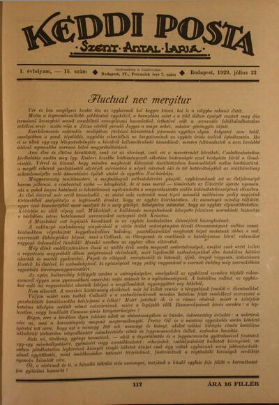 Keddi Posta I. évfolyam 15. szám