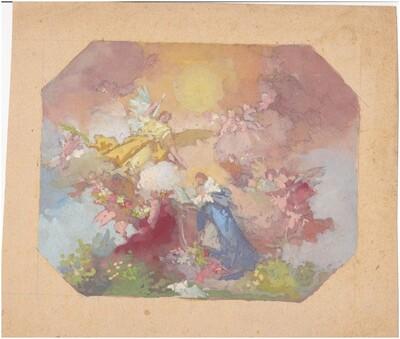 Angyalok, imádkozó alak színkompozíció