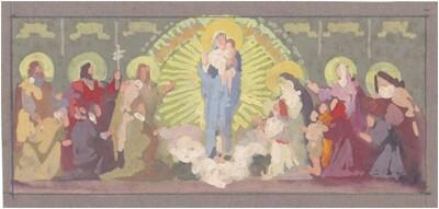 Mária Kis Jézussal és Szentekkel