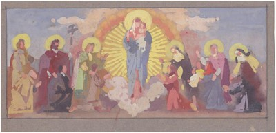 Mária Kis Jézussal és Szentekkel 2.