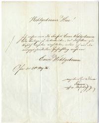 Meghívó és tárgyjegyzék budai művészeti árverésre, 1845