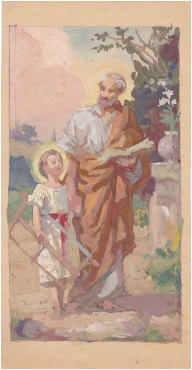 Szent József és Jézus